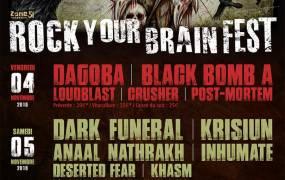 Concert Black Bomb A, Crusher, Dragoba et Loudblast