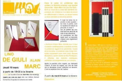 En regard, sur Lino de Giuli à Argenteuil