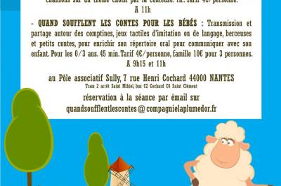 Quand soufflent les contes pour les bébés… Oh la vache ! à Nantes
