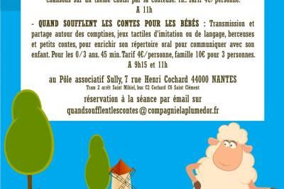 Quand soufflent les contes pour les bébés… Mon nounours, je l'aime fort à Nantes