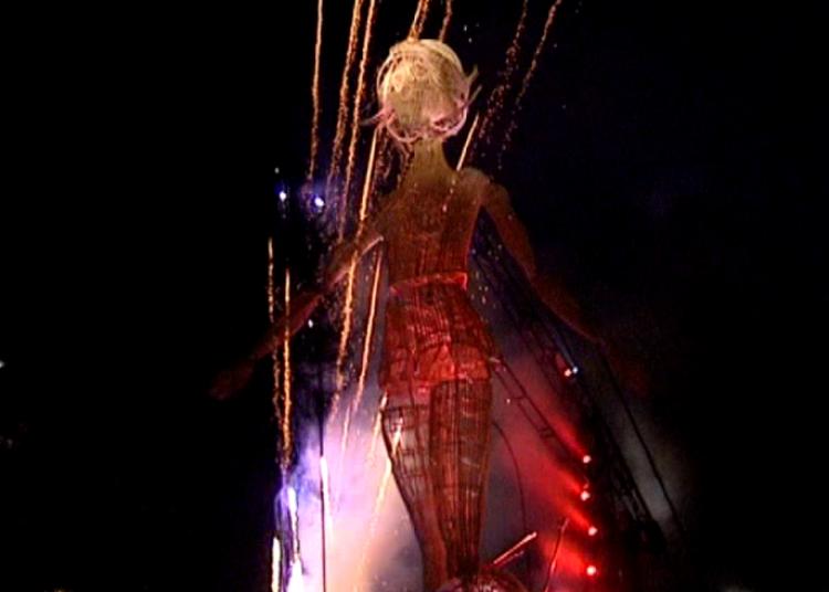 Compagnie L'Homme debout - Aub�pine Lampion (en d�ambulation) � Chalon sur Saone