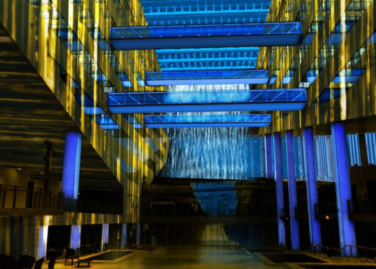 Cathédrale d'eau et de lumière à Lyon