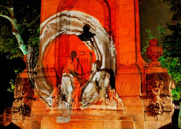 Projection de lumière de verre, retour aux sources à Lyon