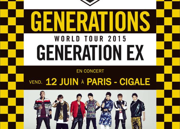 Generations From Exile Tribe � Paris 18�me