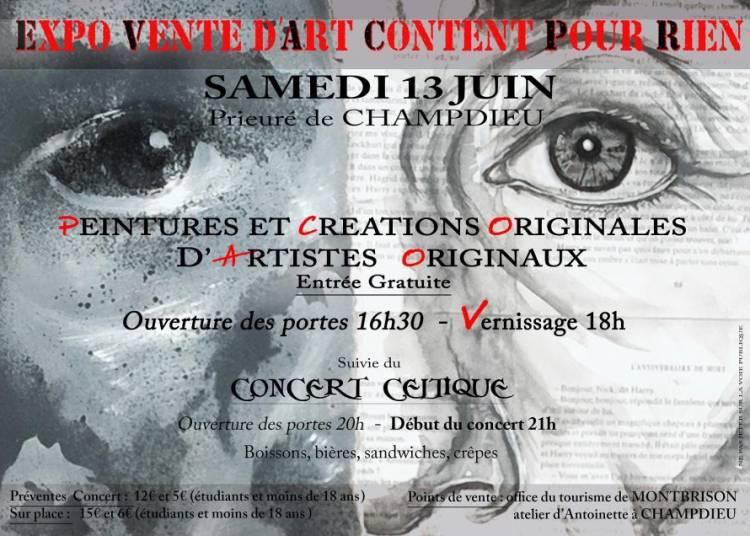 Expo Vente d'art Content pour Rien � Champdieu