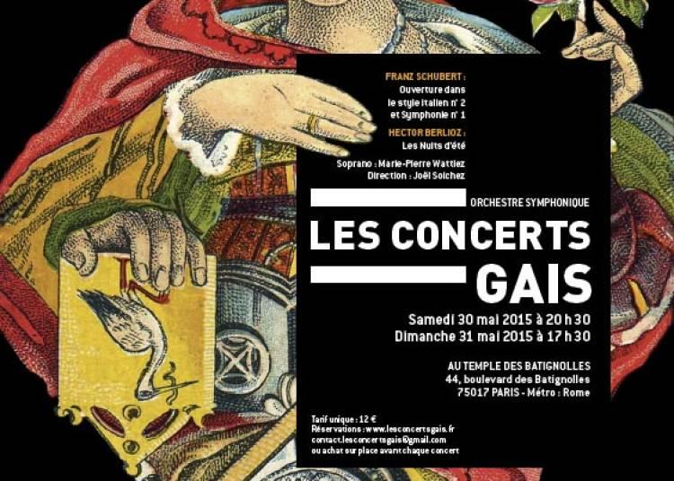 Schubert et Berlioz par Les Concerts Gais ! � Paris 17�me