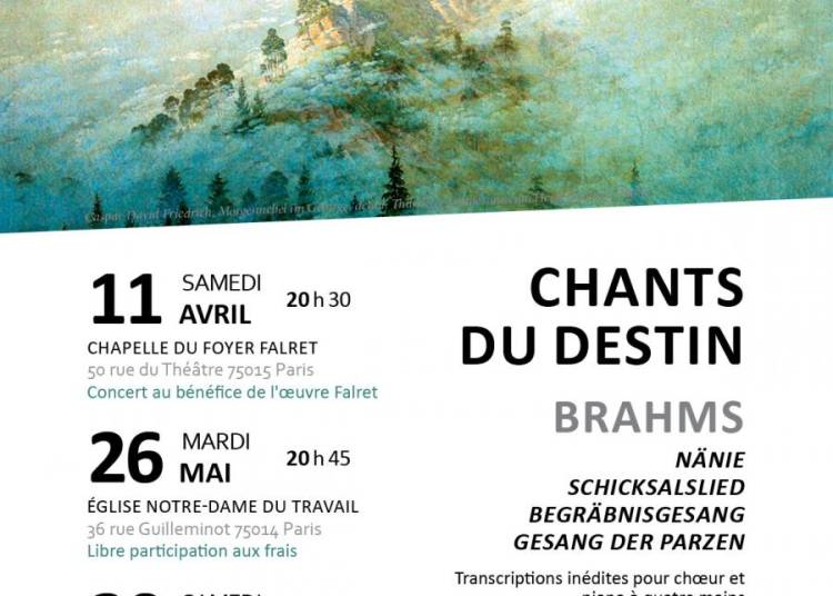 Brahms, chants du destin � Paris 14�me