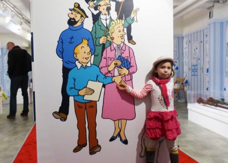 Tintin et Milou arrivent au Mus�e en Herbe ! � Paris 1er