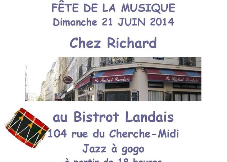 Jazz à Gogo chez Richard à Paris 6ème