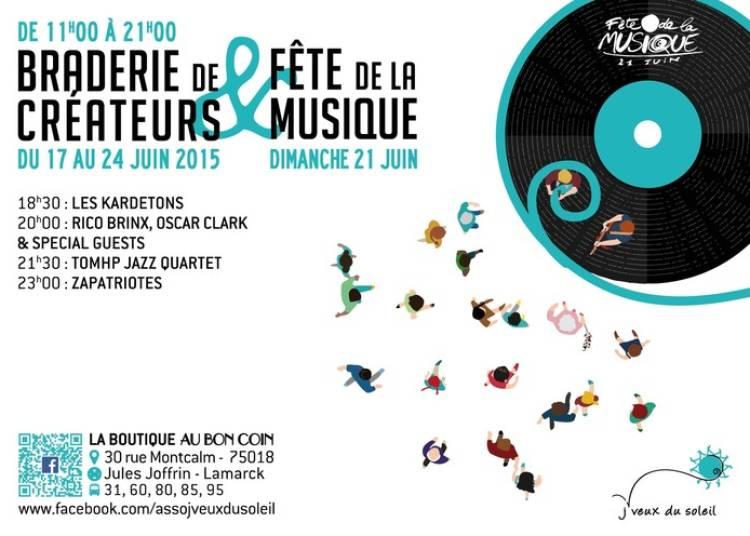 Les Kardetons, Rico Brinx, Oscar Clark, Tomhp Jazz Quartet Et Zapatriotes à Paris 18ème