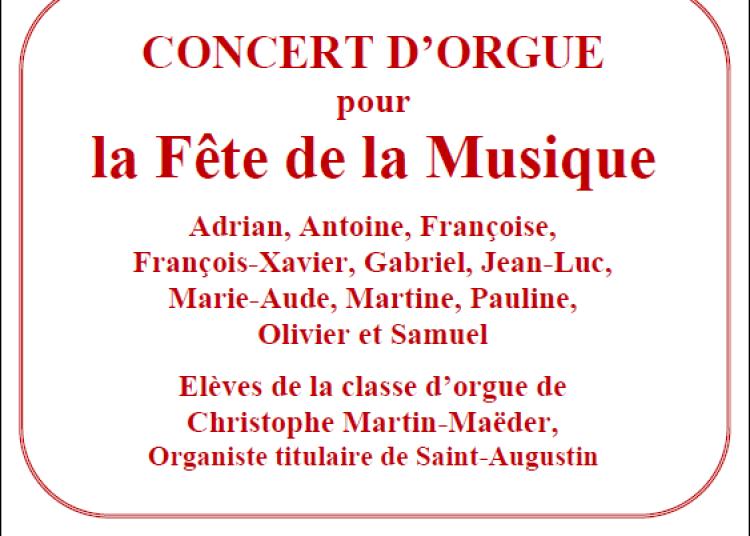 Classe d'orgue de Christophe Martin Maëder à Paris 8ème