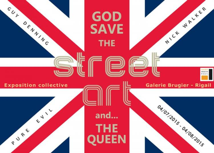 God save the street art and... the Queen � Paris 3�me