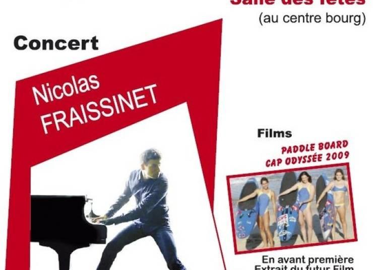 Nicolas Fraissinet et projections films � Josse le 5 ao�t 2015