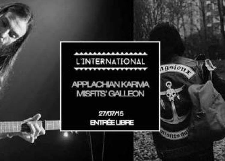 Appalachian Karma et Misfits' Galleon � Paris 11�me