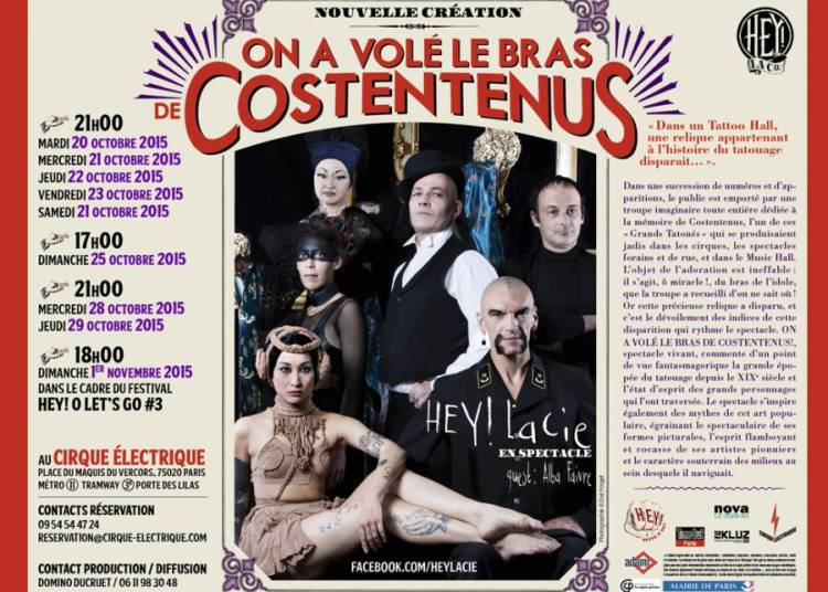 On a vol� le bras de Costentenus !, par Hey ! la cie � Paris 20�me