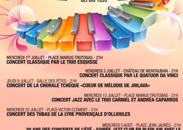 Les 20 ans des concerts de l'�t� 2015