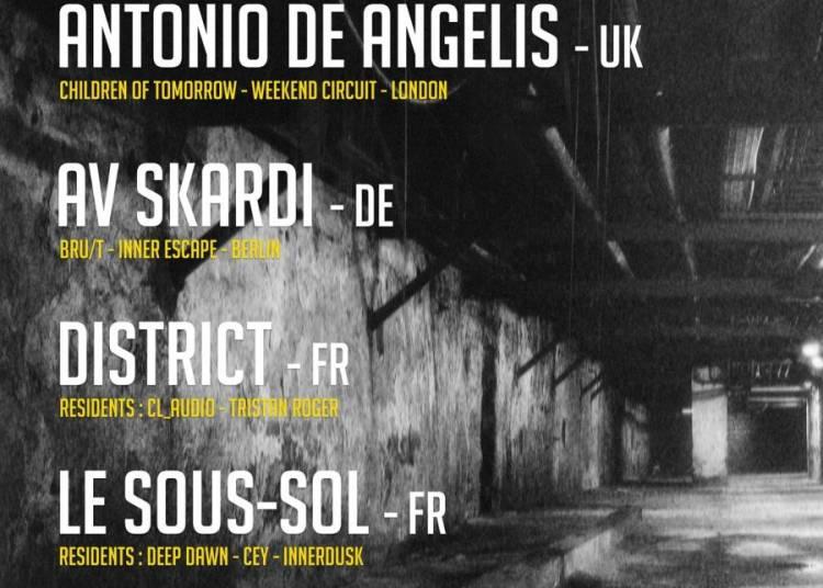 Le Sous-Sol with Antonio De Angelis, Av Skardi, District, Octov � Paris 12�me