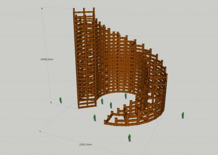Pr�fabrication de Constructions Monumentales en cartons 2015