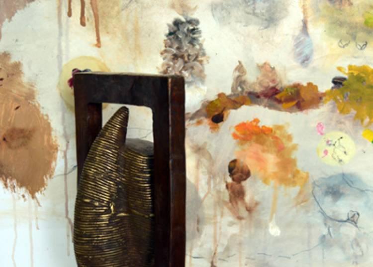 Abou Traor� sculpteur-fondeur du Burkina et Mile Saula peintre de serbie � Barraux