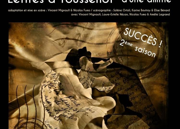 Brassens, lettres � Toussenot � Paris 14�me