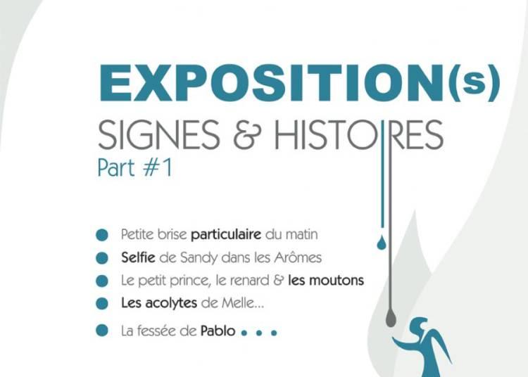 Tableaux, signes et histoires par C�dric Bescond � Le Conquet