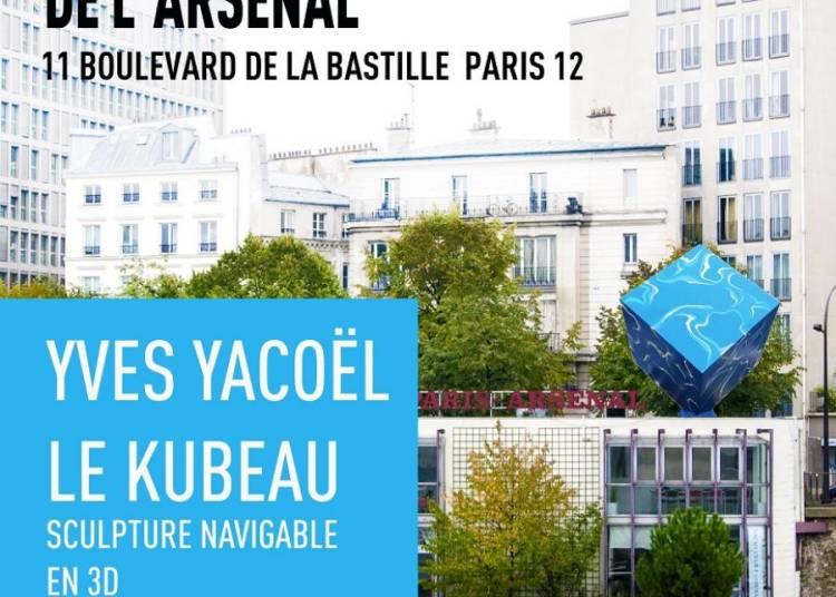 La magistrale sculpture Kubeau d'Yves Yaco�l � Paris 12�me