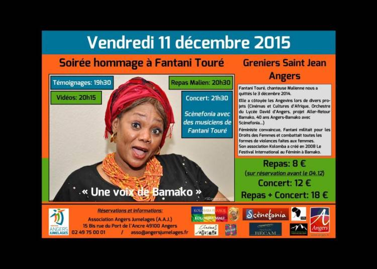 Soir�e hommage � Fantani Tour� artiste malienne � Angers