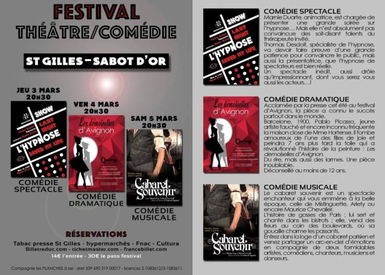 Festival Th��tre-Com�die 11 sort ce soir Productions 2016