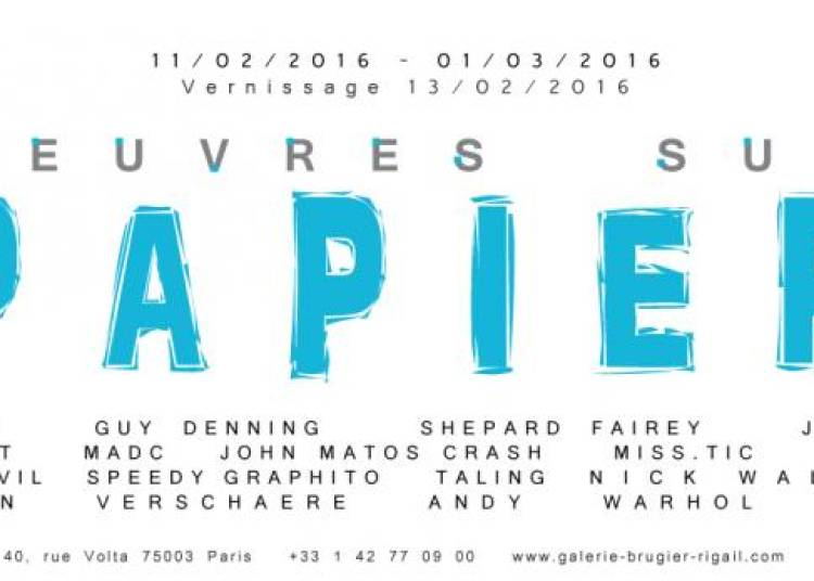 Oeuvres sur papier � Paris 3�me