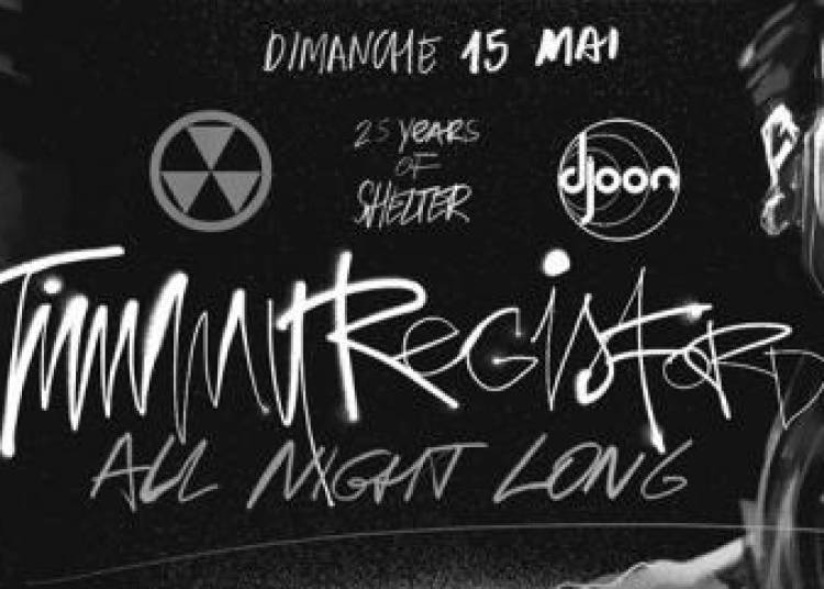 25 Years Of Shelter avec Timmy Regisford � Paris 13�me