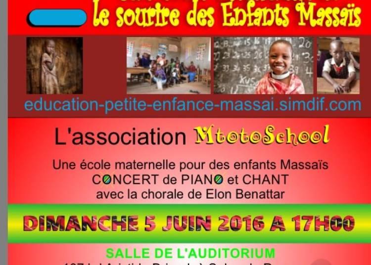 Piano Et Chant Au Profit De L'association Mtotoschool � Salon de Provence
