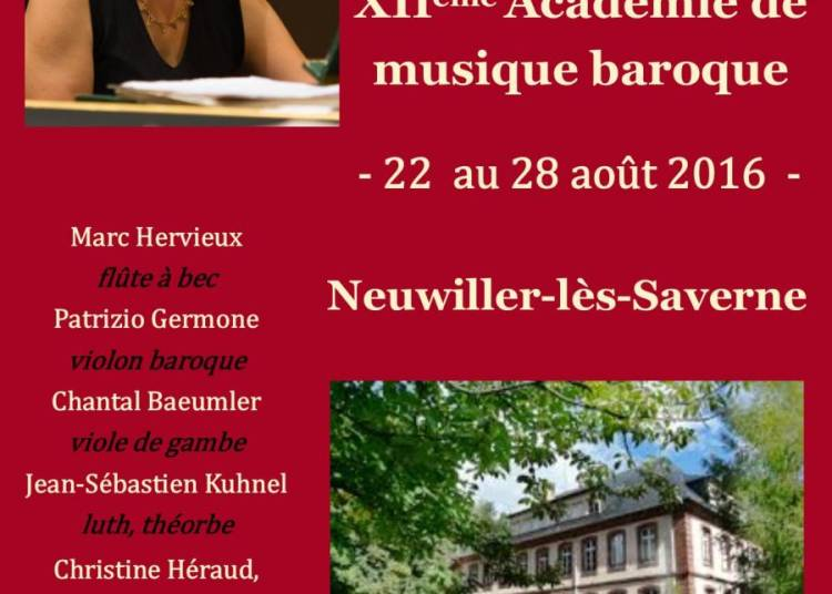 Acad�mie de musique baroque 2016