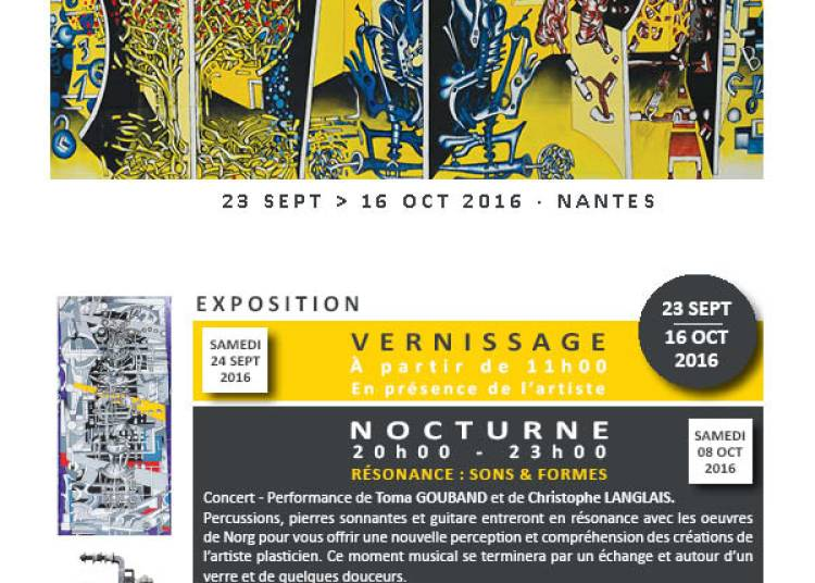 Exposition n�16 artiste plasticien Norg � Nantes