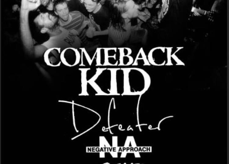 Comeback Kid, Defeater, Negatie Approach et Giants � Paris 13�me