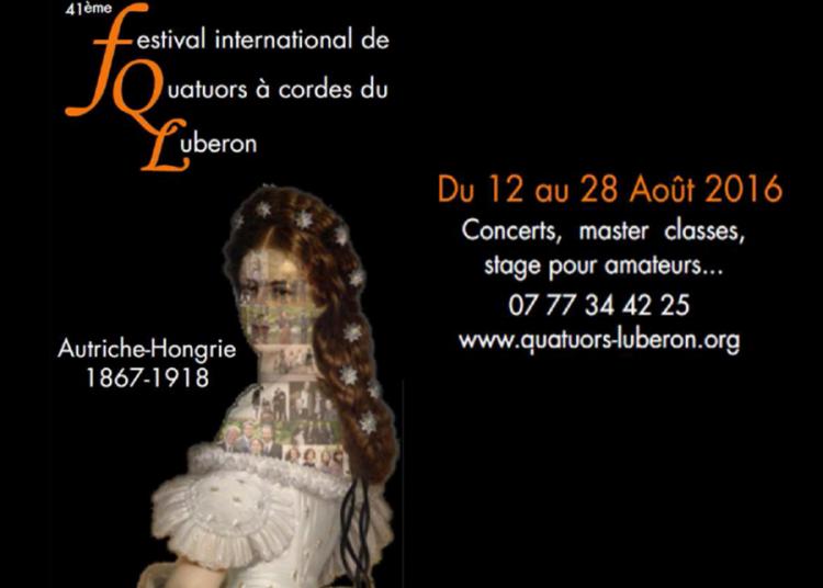 Festival International De Quatuors � Cordes Du Luberon 2016