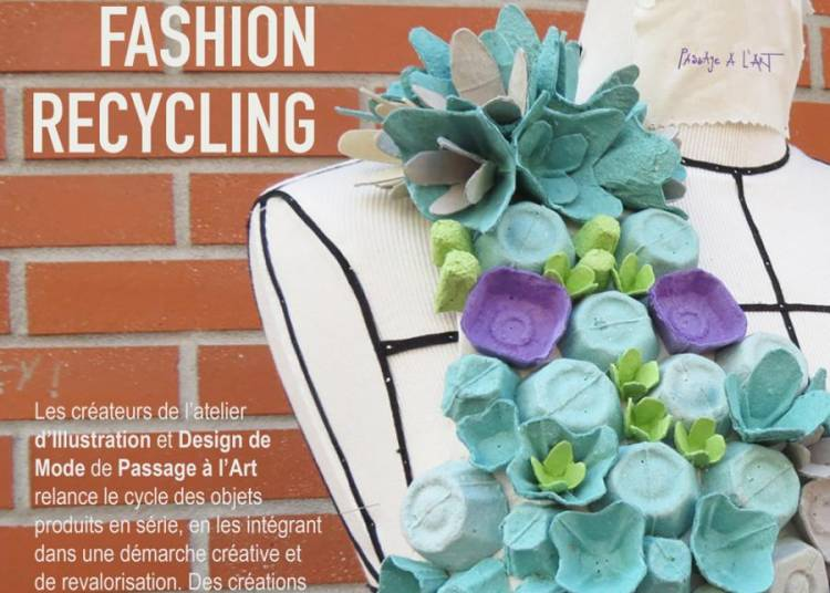 Eco fashion recycling vitrine d'�t� Passage � l'art � Toulouse
