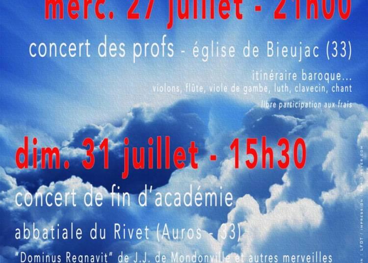 Concert de fin d'acad�mie de musique ancienne � Auros