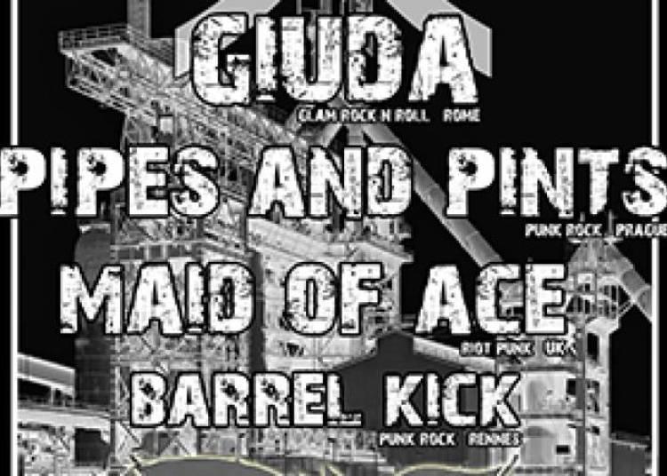 Giuda, Pipes And Pints, Maid Of Ace et Barrel Kick � Paris 13�me
