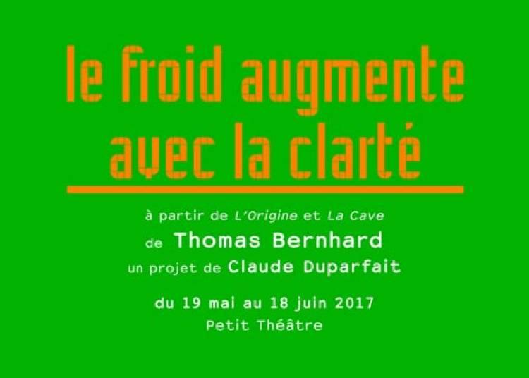 Le Froid Augmente avec la Clart� � Paris 20�me
