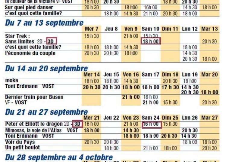 Programme de septembre 2016 � Creon
