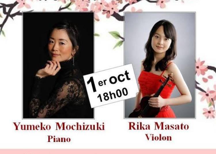 Yumeko Mochizuki   Piano      Rika Masato  Violon � Betheny
