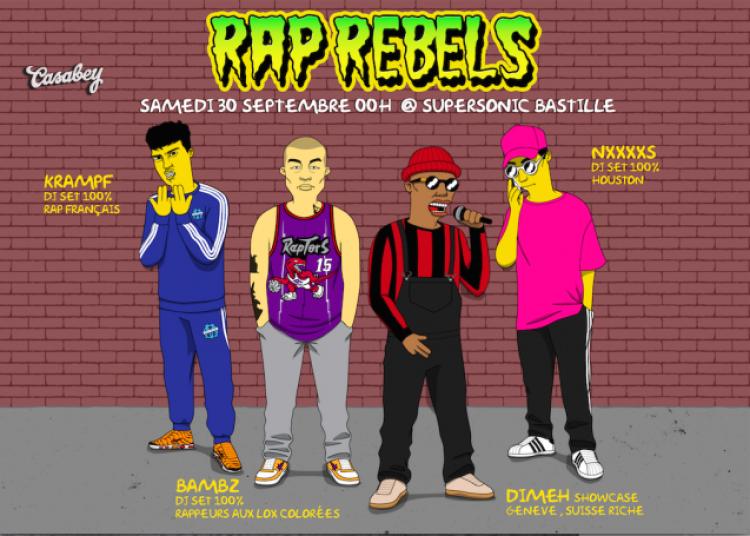 Rap Rebels W/ Di-meh (live), Bambz, Nxxxxxs, Krampf � Paris 12�me