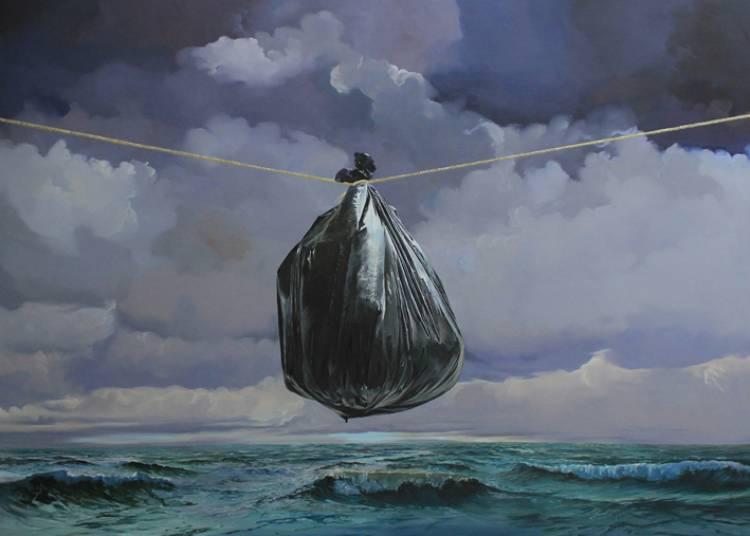 Le sac (�tait) Plastique - Denis Rivi�re � Boulogne Billancourt