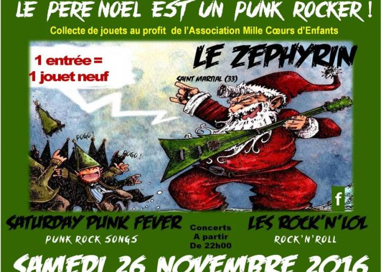 Le p�re No�l est un Punk Rocker � Saint Martial