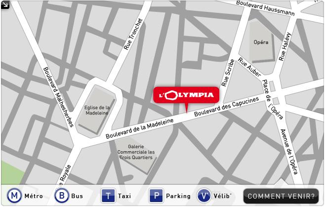 Olympia paris programme r servation et plan de l 39 olympia - Adresse h et m paris ...