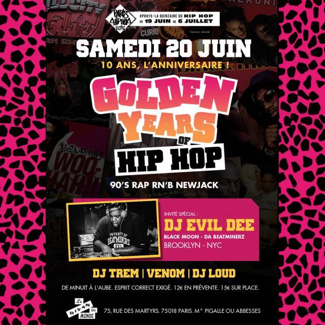 Concert golden years of hip hop les 10 ans paris for Le divan 9 juin 2015