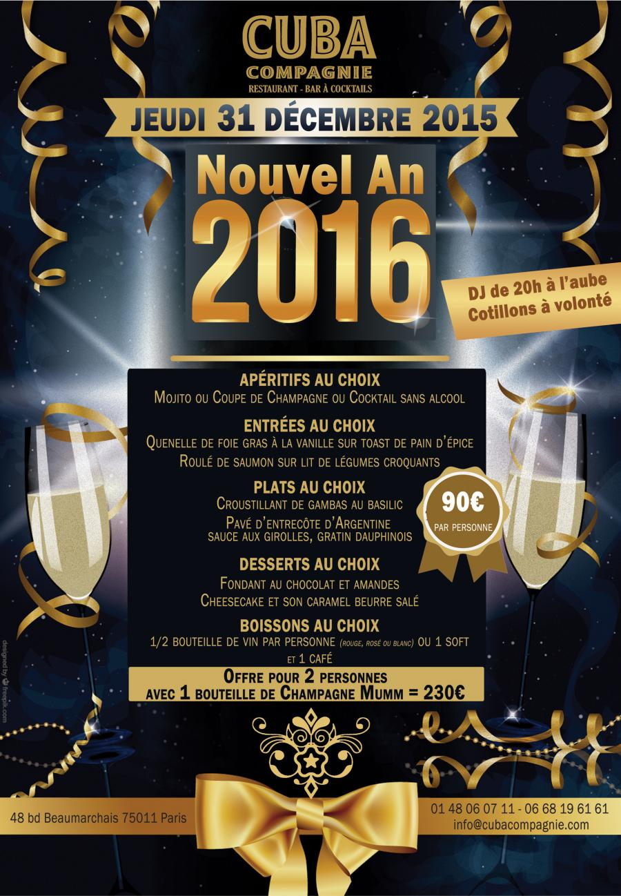 Spectacle r veillon nouvel an 2016 paris du 31 d cembre 2015 au 1er janvier - Reveillon nouvel an paris ...