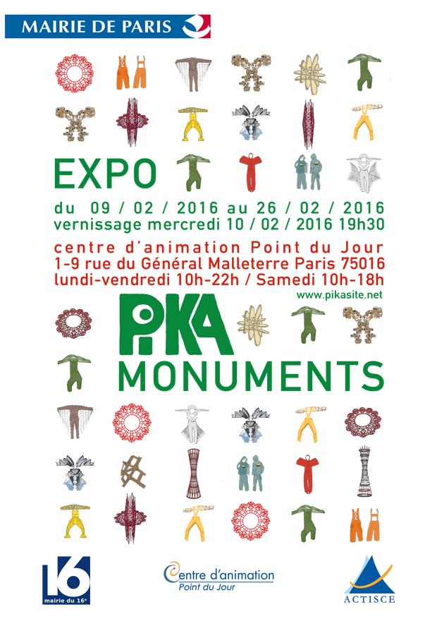 Exposition pika monuments paris vendredi 26 f vrier 2016 for Expo paris fevrier
