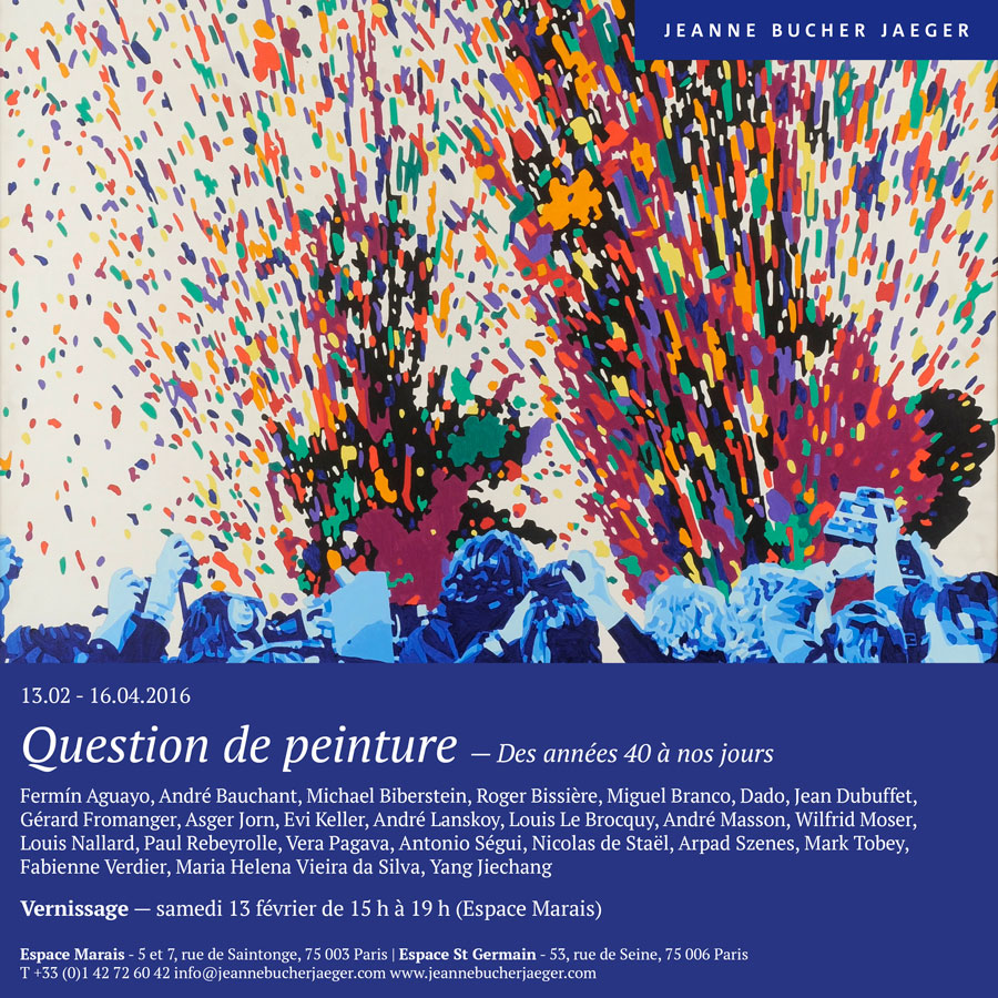 Exposition question de peinture paris du 13 f vrier au for Expos paris novembre 2016