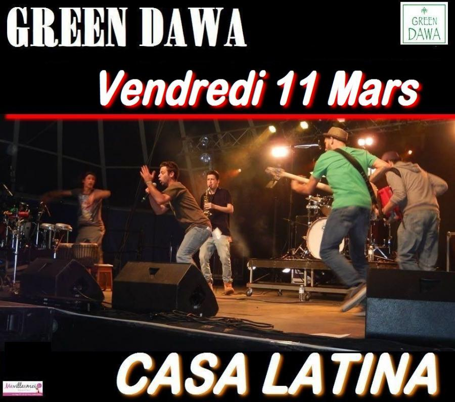 concert reggae festif green dawa bordeaux vendredi 11 mars 2016. Black Bedroom Furniture Sets. Home Design Ideas